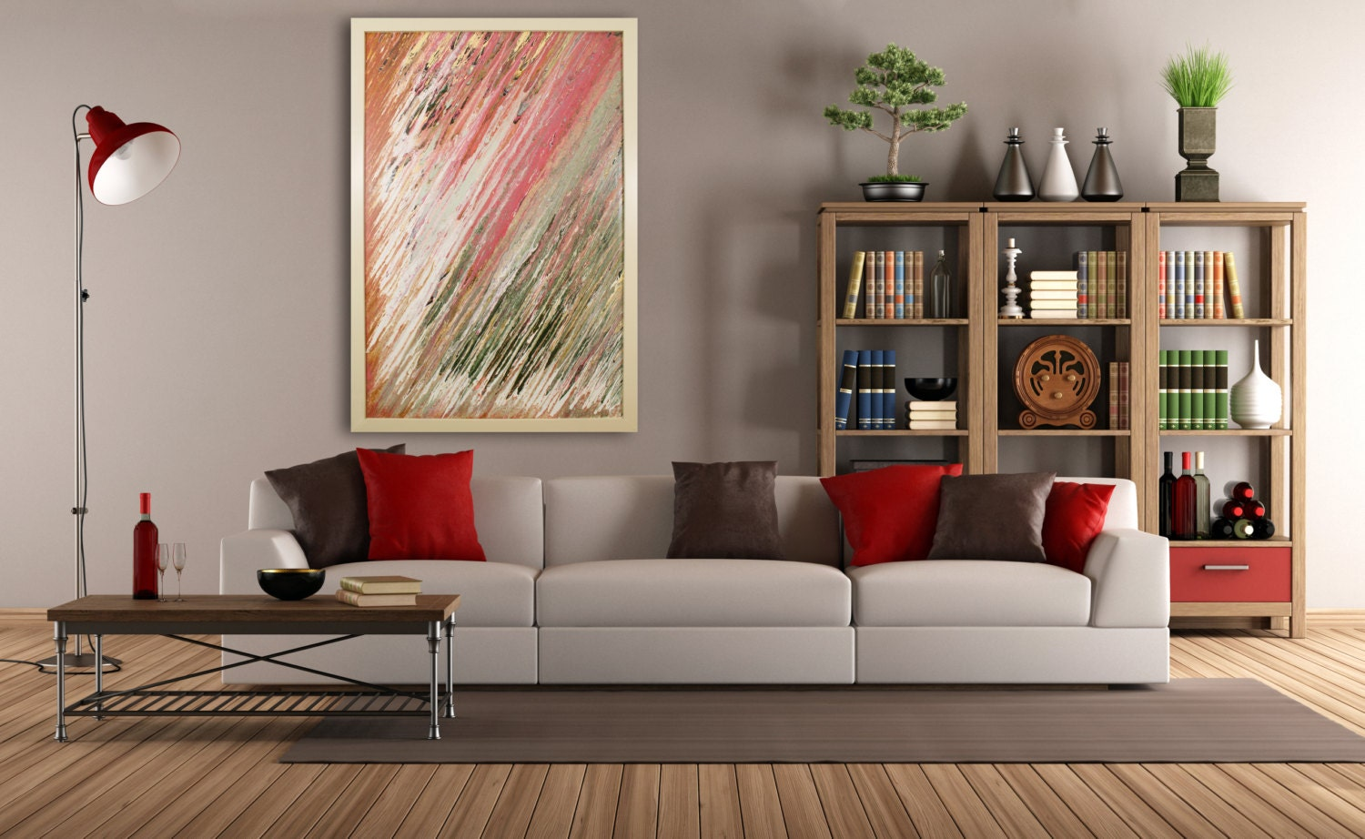 Contemporary Wall Decor Extra Large Wall Art Original Abstract Glass Art Deco