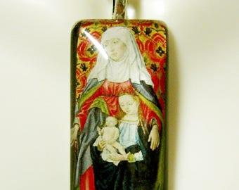 Saint Anne pendant with chain - GP12-377
