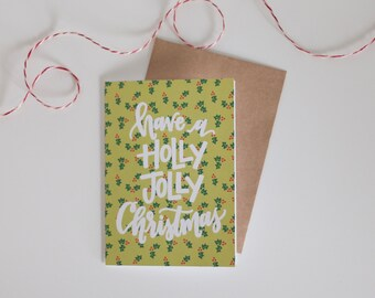 Clearance! -- Holly Jolly greeting card