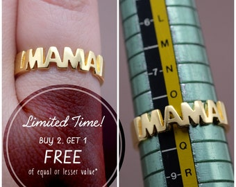 Stackable Name Ring- Custom Name Ring - Personalized Name Ring - Baby Name- Your name ring - New Mom Ring- Bridesmaid Jewelry-Birthday gift.
