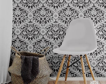 Mughal Moroccan Trellis Wall Stencil - Painted Wall Designs for DIY Bohemian Style Decor