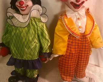 Set of two 1990 EPI porcelain clown figures