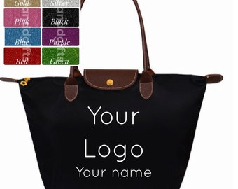 Custom Logo Bag with Tumbler Set! Nylon Tote. Personalized tote. Logo tote. tote.  bag. Canvas messenger bag. Sorority tote. Sorority bag