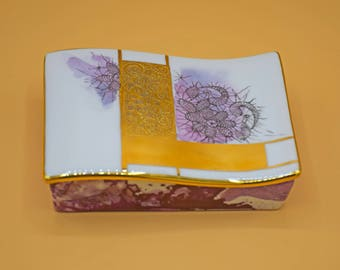 """Porcelain jewelry box """"Lumière"""",made in Italy"""