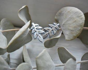Leaf Stud Earrings - Flourish - Sterling Silver - Botanical