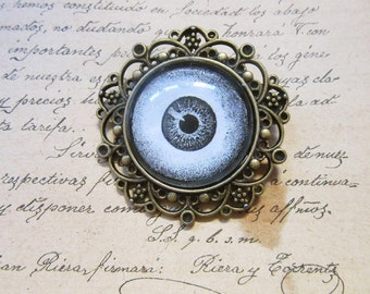 Charm Cabochon Eye Magic Protection Talisman Antique Bronze