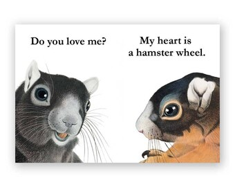 My Heart is a Hamster Wheel Magnet