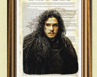 The KING In THE NORTH -Game of Thrones Wall Art -Fan Art -Poster