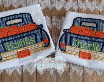 Pumpkin Vintage Truck Custom Tee Shirt - Customizable