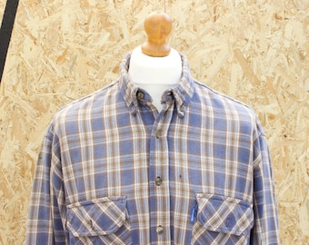 Vintage Long Sleeved Checked Shirt Size - Extra Large