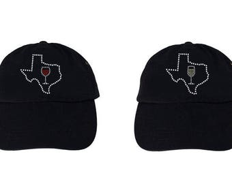 Texas Wine Hat Cap - Wine Drinking Hat