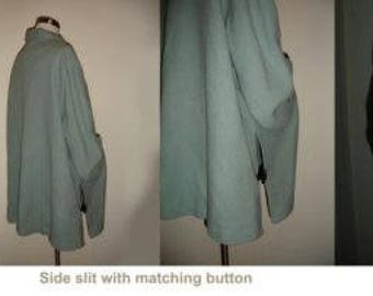 Light blue vintage cozy cape/winter coat!
