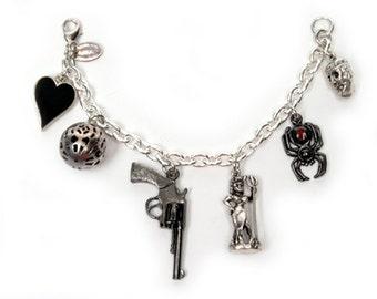 Film Noir charm bracelet