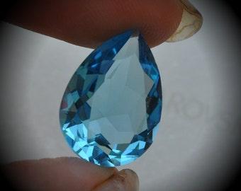 4320 18x13mm Genuine Swarovski Crystals Aquamarine Unfoiled Pear shape Cabochon