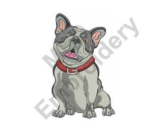 Dog - Machine Embroidery Design, Bulldog, French Bulldog