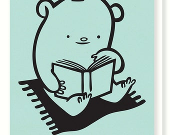 Bibliobear Blank Greeting Card