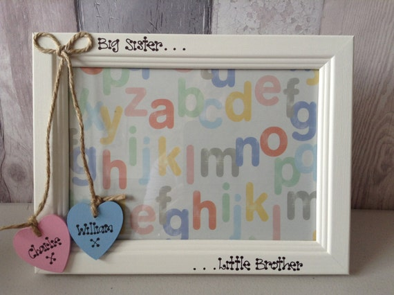 Photo Frame Personalised Big Sister Little Brother Little