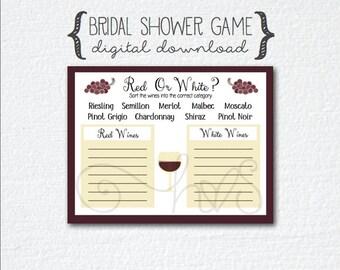 Wine theme bridal shower poem points game poem wine theme bridal shower game red or white wine quiz filmwisefo Gallery