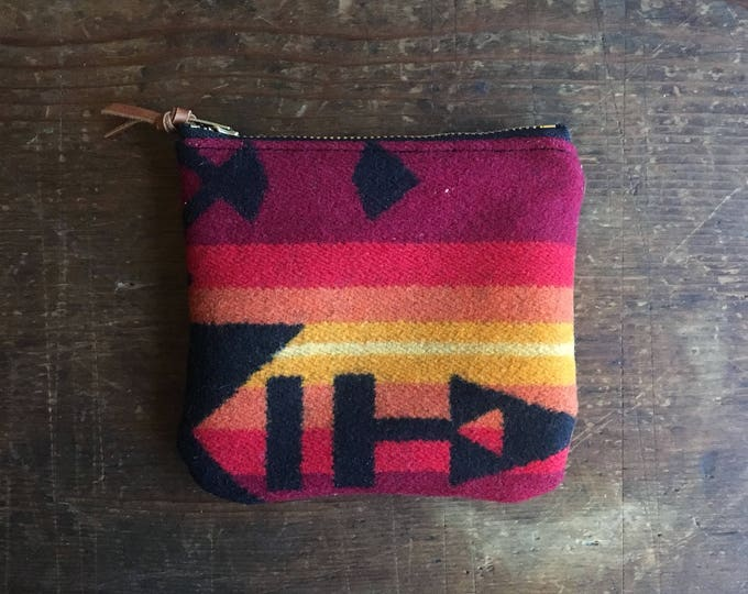 PNW Wool zipper card wallet