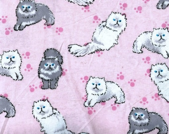 """Cats Flannel, 1 yard x 42"""" wide"""