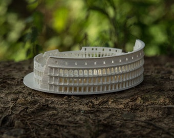 3D Printed Roman Colosseum Architectural Desk Decor Model