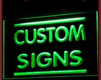 Custom neon sign etsy custom design your own led neon light sign bar open decor crafts aloadofball Image collections