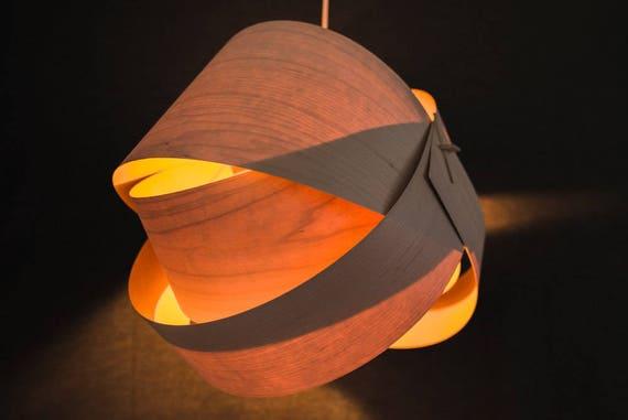 Wood Lamp Shade   Wood Floor Lamp Shade Wood Table Lamp Shade Modern Table  Light In Veneer  Elliptical