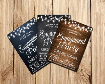 ENGAGEMENT PARTY INVITATION, Engagement Party, Chalkboard Engagement invitation, Engagement Party, Printable