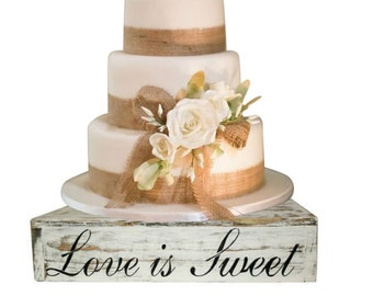 Rustic Wood Cake Cupcake Stand Box Country Rustic Wedding Solid Beach Wedding Cake Stand Candy Bar