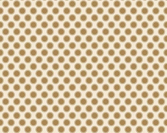 Metallic Gold Dot Fabric, Riley Blake Postcards For Santa, SC4754, My Minds Eye, Gold Metallic Quilt Fabric, Cotton