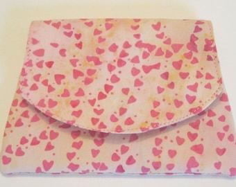 Tiny Pink Hearts Batik Wallet