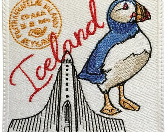 Iceland Stamp Embroidered Patch