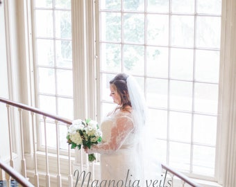 Wedding Veil - Chapel length Veil with metal comb