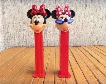 Pair PEZ Dispenser MINNIE MOUSE, Collectibles Candy Dispensers