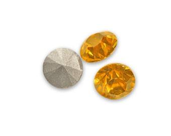 6 x Swarovski Rhinestone Copper 1028 Xilion SS29 (0,24 inch) round conical bottom ss 29