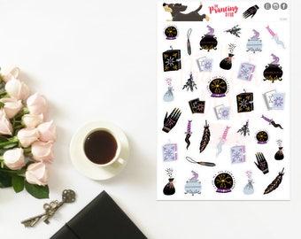 Eclectic Sampler }} decor .. Planner Stickers . ECLP . Erin Condren LifePlanner™ . Wicca . Spellbook . Pagan . Crystal Ball . PE001