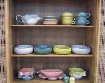 Vintage 1950s Mid-Century Russel Wright Steubenville American Modern Dinnerware Set 40+ Pieces