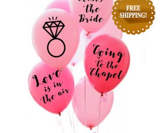 Bridal Shower Decorations. Going to the chapel balloons. Bridal Shower decor. bachelorette party decorations. Love is in the air balloons.
