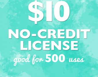 No-Credit Commercial License for up to 500 uses, Commercial License, Clipart License, Digital Paper License, Commercial use for clipart