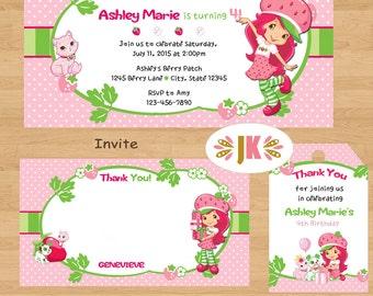 Strawberry Shortcake birthday Printed Invitations
