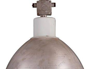 Large Gray Czech Factory, Industrial Pendant Lamp