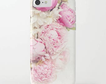 Peony phone case, pink peonies,iphone 5-8, iphone x Samsung  S5-S8 case,flower,girly,shabby chic,pastel phone case