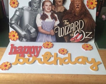Customised hand made card wizard of oz birthday card wizard of oz birthday card wizard of oz dorothy movie birthday card bookmarktalkfo Images