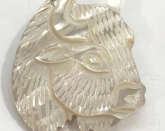 Lee Sands White Buffalo Pendant