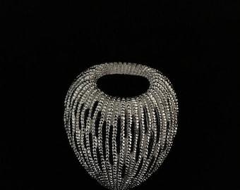 Vintage Monet Silver Tone Organic Brooch (Tier 1)