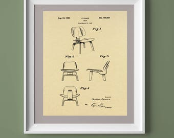 Vintage Eames Chair Patent Print, Vintage Printable, Vintage Chair Poster, Printable Art, Printable Poster,  INSTANT DOWNLOAD
