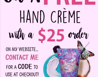 Free hand creme offer