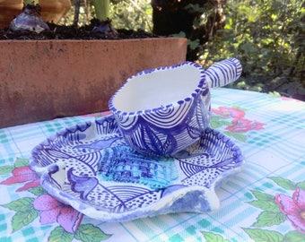 Blue ceramic Teacup