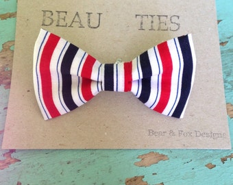 Baby Boy Toddler clip-on bow tie striped Fourth of July