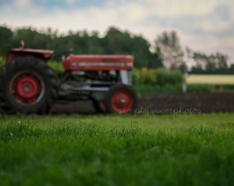 Digital Background Farm Tractor